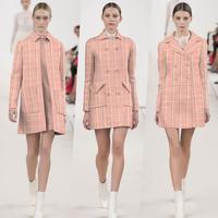 Freeshipping Plaid Jacquard Elastic Knitting Pure Wool Cashmere Fabrics Thick Coat Wool Fabrics Knitting Katoen Stof