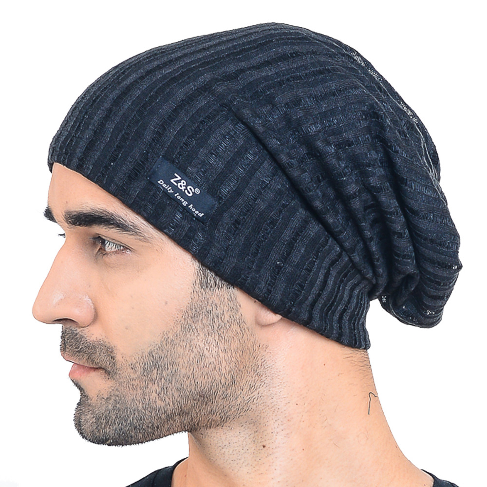 97c3111182f HISSHE Summer Hollow Slouchy Beanie Cap Solid SkullCap For Men Thin Cool  Casual Daily Hat