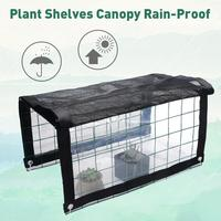 Plant Rain Canopy Potted Awning Mini Greenhouse Sunscreen Outdoors Round Wire Frame Flower Shelf Sun Awning Garden Supplies|Awnings| |  -