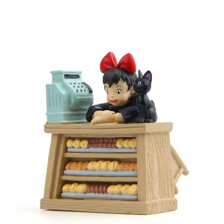 New Kiki Gigi Bakery Kiki's Delivery Service Reconstruction Animiation Action Figure Doll House Kid Toy Miniature Diorama Model animation garage kid hayao miyazaki animation model toys artbox action figure pvc dolls kiki s delivery service model kt038