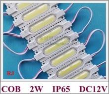 Módulo LED de inyección COB con lente, módulo de luz LED impermeable para canal de señal, letra DC12V 2W IP65, PCB de aluminio de alta calidad