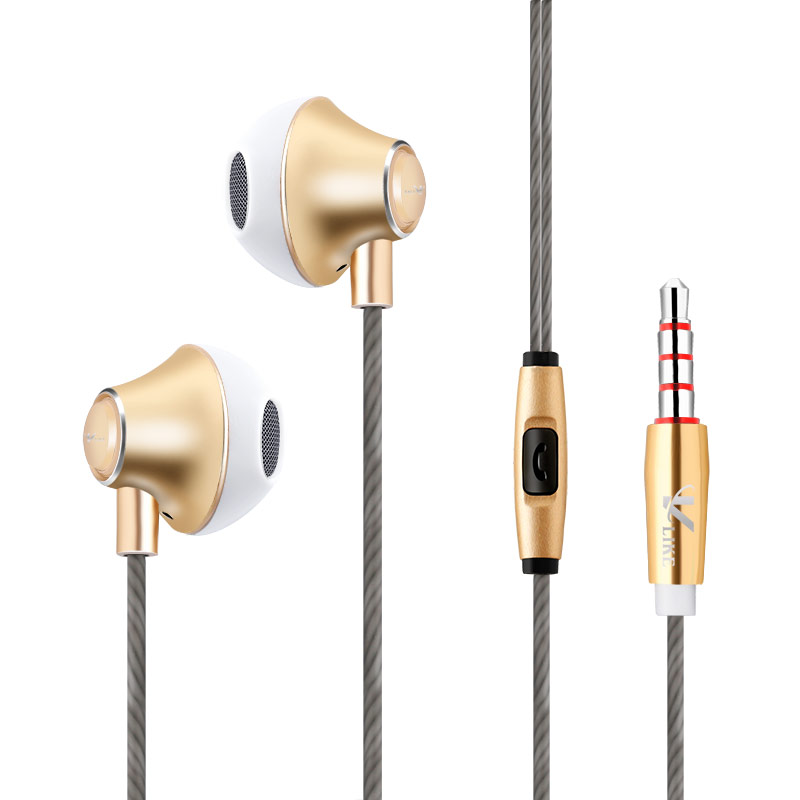 Metal Earphone Wired Sport Earphones Super Bass Stereo In Ear Earphone Music Earbuds Headset With Microphone For Xiaomi Sony PC metal wired earphone high bass dual drive hifi in ear earphones with microphone sport headset earbuds for iphone xaiomi samsung