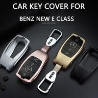Car Key cover For Mercedes Benz New E Class E200 E260 E300 E320 W213 Remote Keyless 3buttons Key holder case Bag Fob Shell
