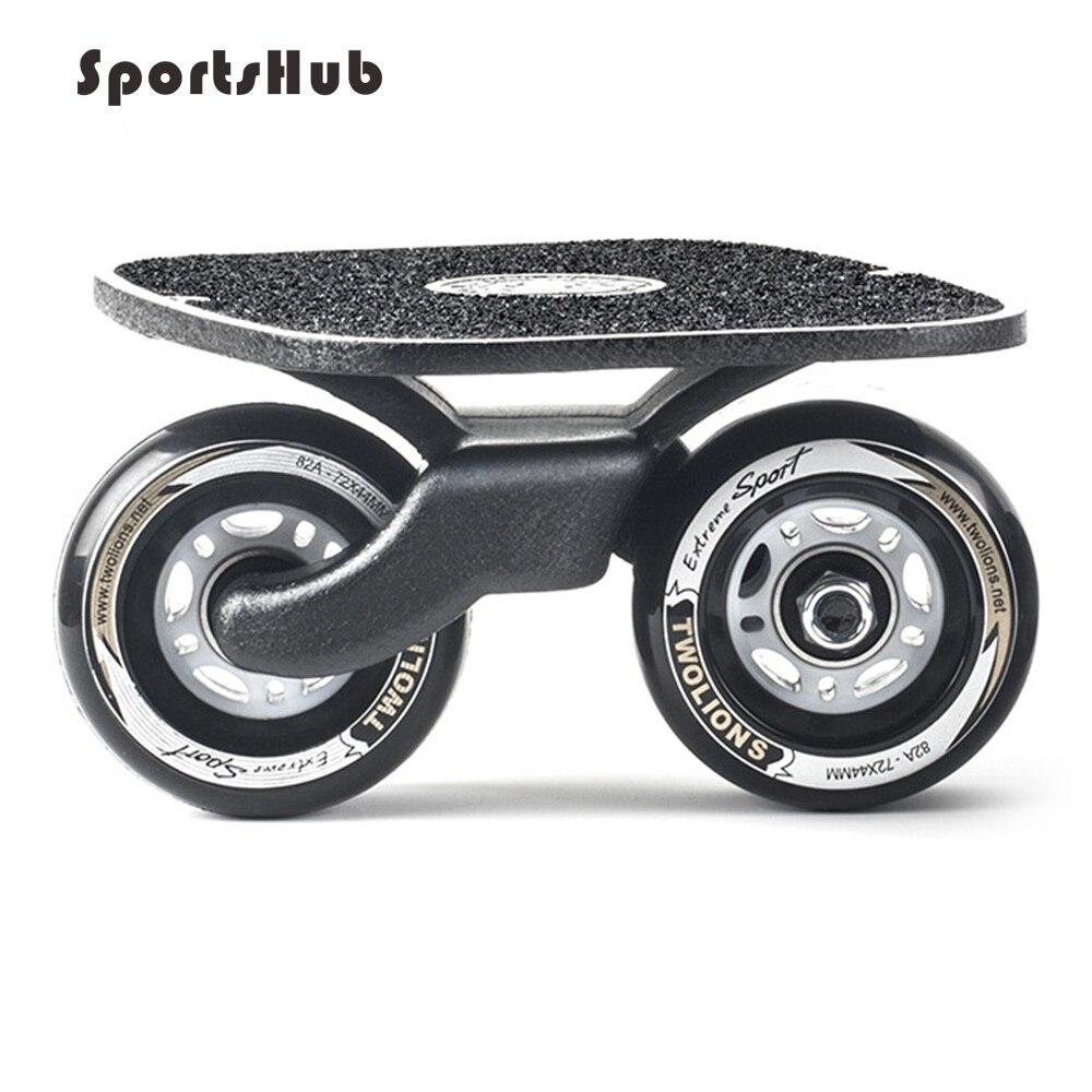 SPORTSHUB 1 paire planche à roulettes dérive planche pour rouleau route dérive plaque antidérapant Skateboard sport métal pédale roues en polyuréthane O2K0013