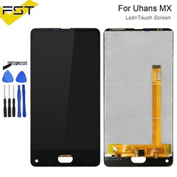 5.2 ''Nero Per Uhans MX Display LCD + Touch Screen Digitizer Assembly Parti di Riparazione Per Uhans MX Accessorio + Strumenti
