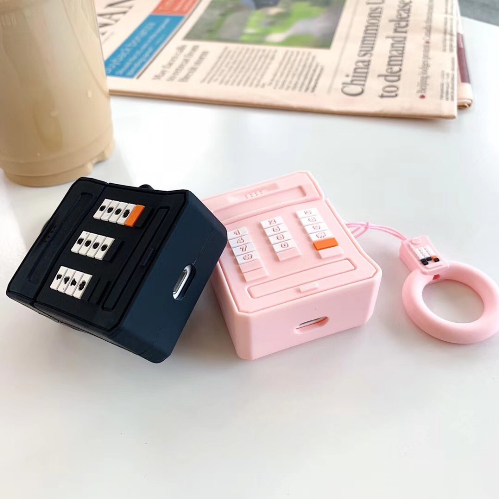 Image 3 - 3D Mobile phone soft silicon Wireless Earphone Charging Cover Bag for Apple AirPods 1 2 black Pink Bluetooth Headset Box-in Earphone Accessories from Consumer Electronics