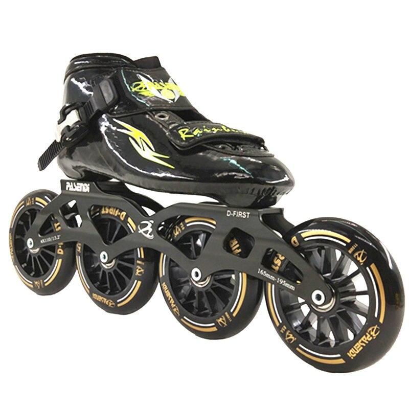Scarpe di pattinaggio di velocità in linea Professionale di Adulti pattini a rotelle in linea pasendi inline da corsa da skate 3x125 4x100 4x110 4x90
