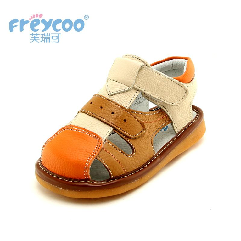 Freycoo 2019 New Spring Summer Kids Shoes Baby Sandals For Girls Boy Sandals Children High Quality Walk With Sound Called Shoes