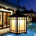 Китайская простая квадратная люстра  уличная влагостойкая люстра  вилла  садовые светильники  атмосфера  балкон  коридор  алюминиевая лампа...