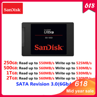 Sandisk ULTRA 3D Internal Solid State 250GB 500GB 1TB 2TB up to 560MB/s Disk Hard Drive SATA Revision 3.0 SSD for Lapton Desktop