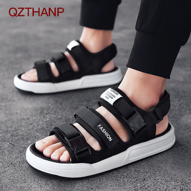 a68b03500490 QZTHANP Outdoor Flats Waterproof Shoes Beach Sandals Fashion Casual Men  Sandal Shoes Male Adult Sandalias Hombre High Quality