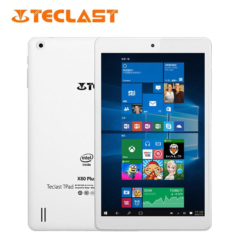 Teclast X80 Plus 8 Inch Tablet PC Windows 10+Android 5.1 Dual Intel Cherry Trail Z8300 Quad Core 2GB RAM 32GB ROM Tablet OTG vido w8x intel x5 z8300 14nm cherry trail quad core 2gb ram 32gb rom 8 дюймовый ips экран windows 10 x86 планшеты