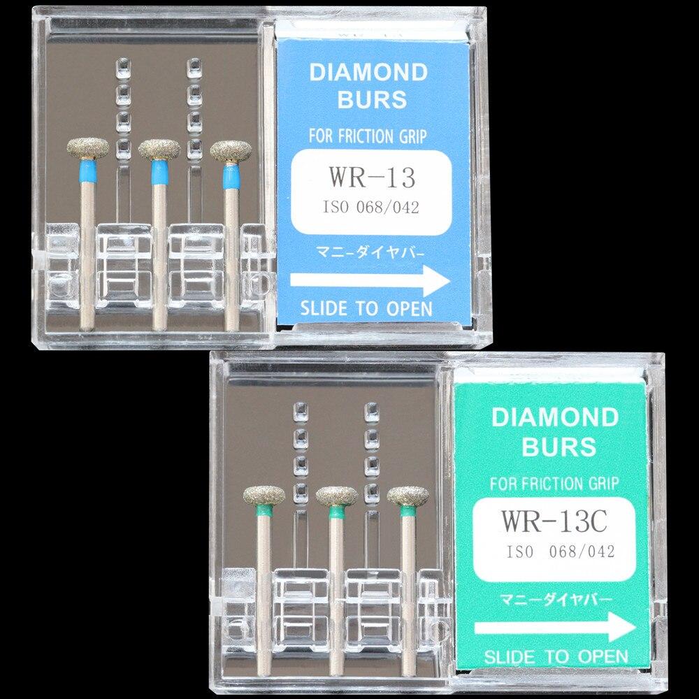 6fad49c871e 30 unids (10 cajas) diamante dental burs wr-11/wr-13/wr-13c/wr-31f polisher  taladro de alta velocidad pulido dentista burrsFEnvío del REE