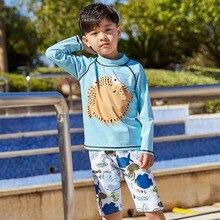 Купальный костюм с длинными рукавами для мальчиков, г., детский купальный костюм из двух предметов детский купальный костюм для мальчиков длиной до колен