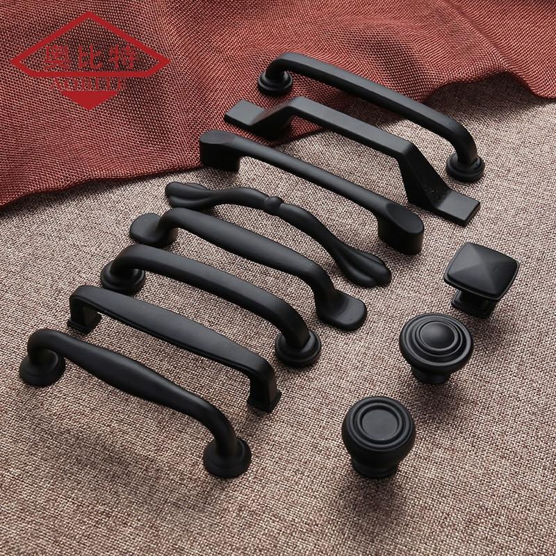 MATTE BLACK Cupboard Pull Knob 25mm I Series IV