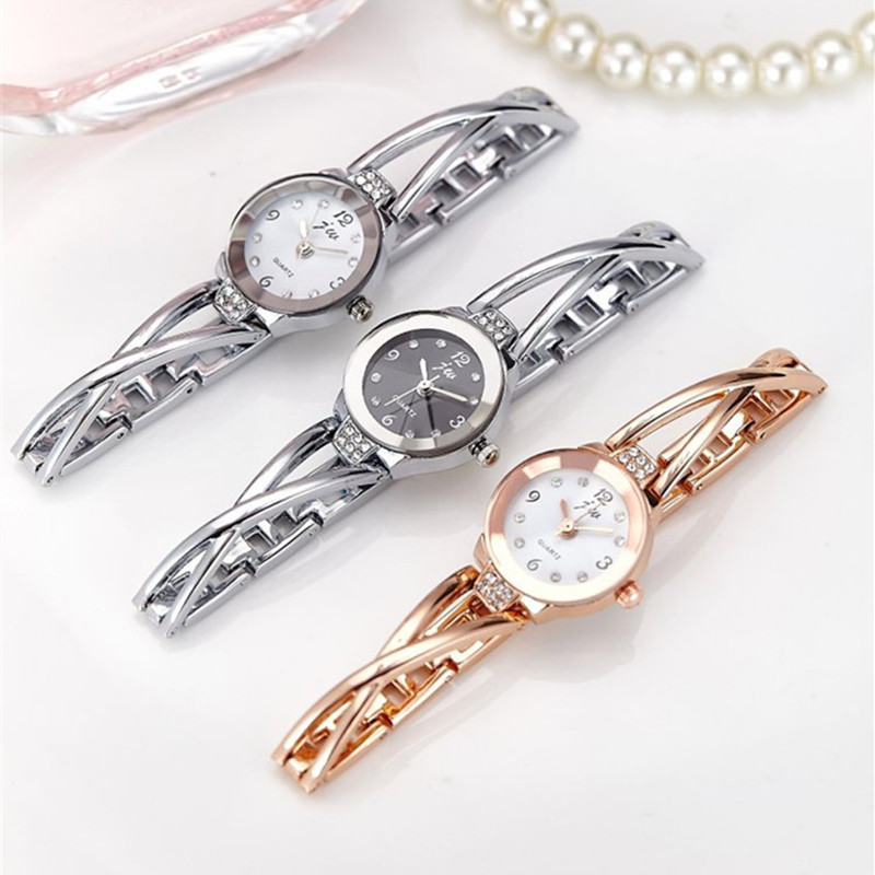 New Fashion Rhinestone Watches Women Luxury Brand Stainless Steel Bracelet watches Ladies Quartz Dress Watches reloj mujer Clock 5