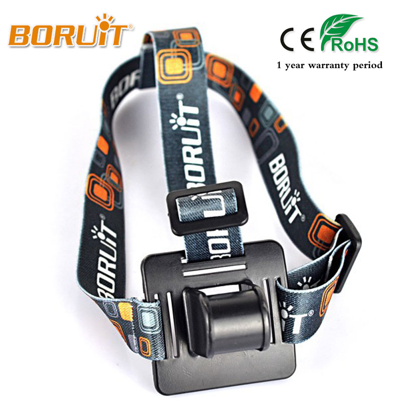 Boruit Adjustable Headband Head Belt Strap For T6 L2 R5 LED Bicycle Bike Headband Head Lamp Head Light