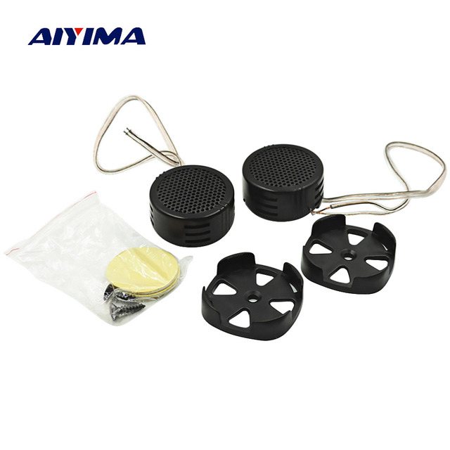 AIYIMA 2 piezas Mini altavoces de Audio para coche de música portátil 4ohm 40 W zumbador Tweeter altavoces triples DIY para el sistema de sonido de cine en casa