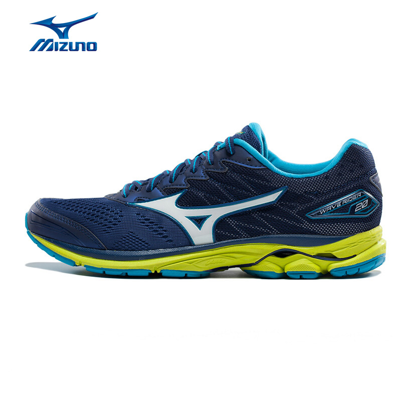 MIZUNO Men WAVE RIDER 20 Professional Jogging Running Shoes Breathable Sports Shoes Cushion Sneakers J1GC170307 XYP582 кроссовки mizuno wave precision 13