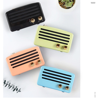Nasin New T5 Stereo Mega Bass Subwoofer Mobile Phone Audio Radio Retro Nostalgic Mini Wireless Bluetooth Speaker TF Card USB AUX