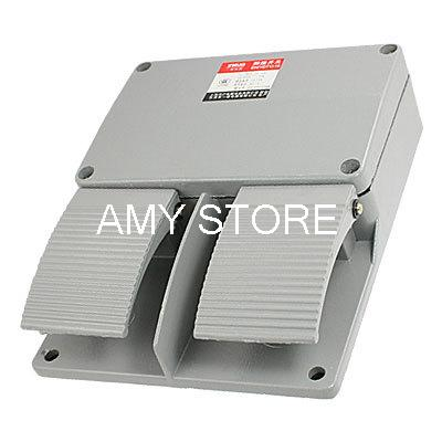 enydt1-15-gray-metal-case-double-action-momentary-spring-returned-foot-pedal-switch-ac-250v-10a-textile-welding-equipments