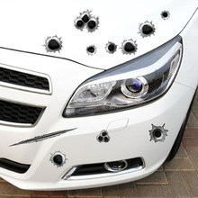 2018 new car simulation bullet hole scratch car waterproof sticker FOR Nissan Teana X-Trail Qashqai Livina Sylphy Tiida Sunny(China)