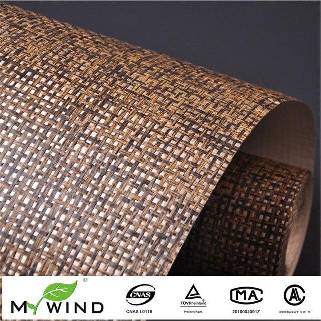 Forderung Ligth Gold Braun Grasscloth Papier Weave Wand Papier