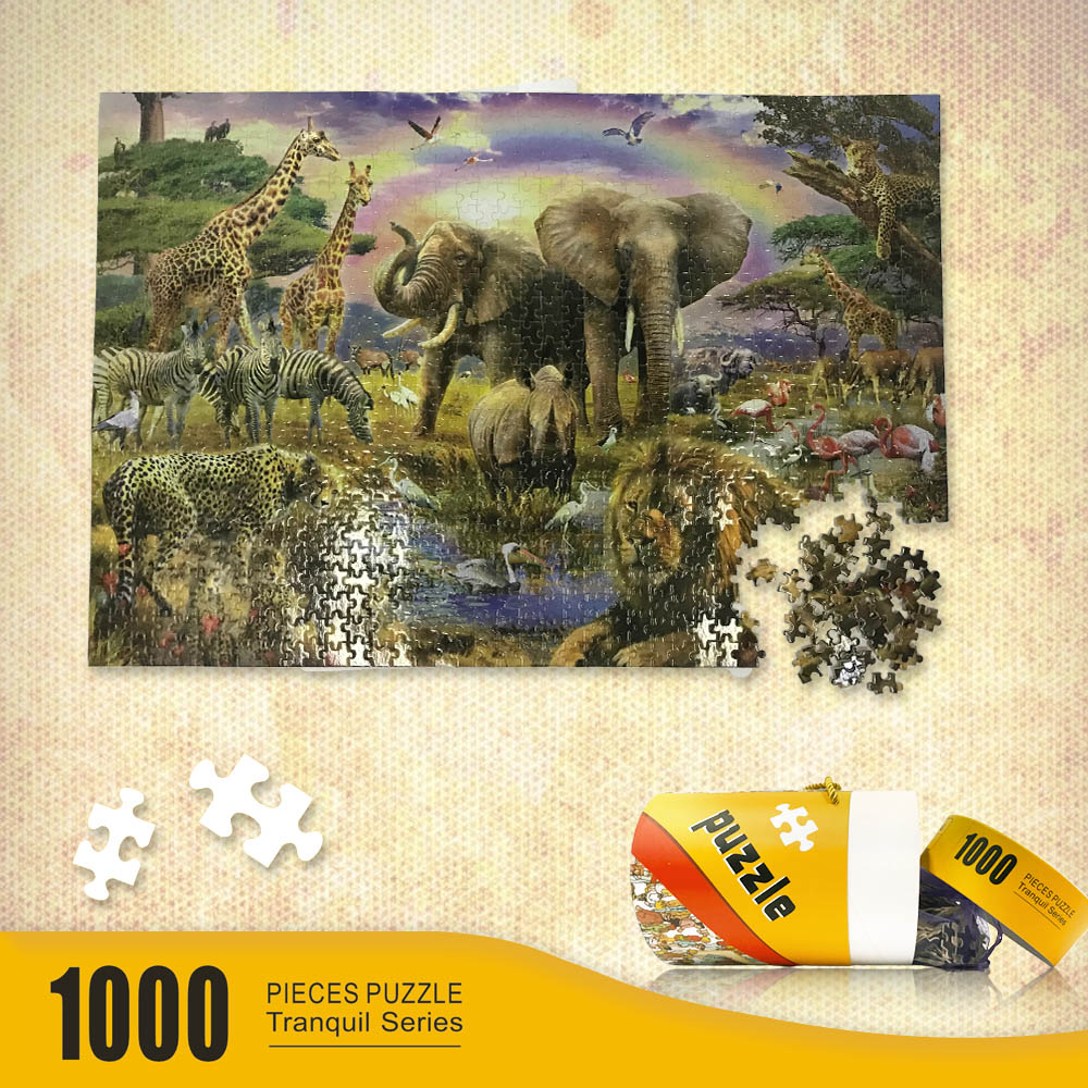 Environmental Puzzle 1000 Pieces Jigsaw Puzzle Kids Adult Pure Wooden in Puzzles from Toys Hobbies