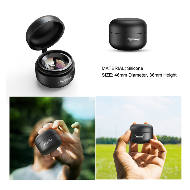 APEXEL HD optic camera phone lens 100mm macro lens super macro lenses for iPhonex xs max Samsung s9 all smartphone 3