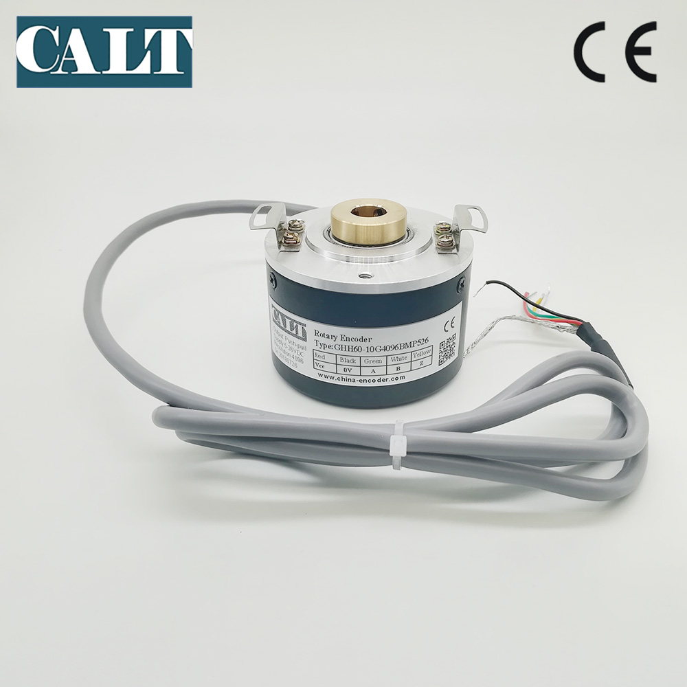 GHH60 <font><b>10</b></font> mm hollow shaft optical rotary encoder GHH60-10G1000BMP526 24V DC pushpull HTL A B Z <font><b>1000</b></font> 1024 1200 2000 2500 4096 P/R image