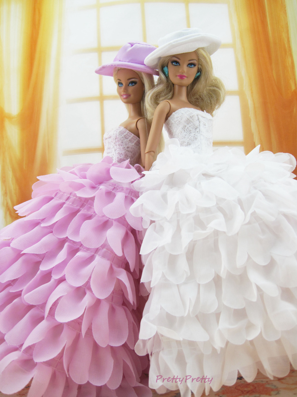 Two Style Fashion Handmade Wedding Gown Princess Dress Party Outfit ...