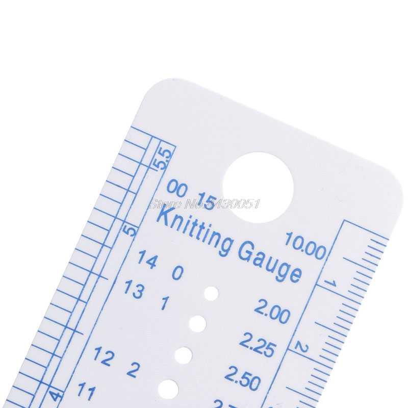 1PC ถักเครื่องมือวัดไม้บรรทัดวัดเครื่องมือพลาสติกสีฟ้านุ่มแข็งแรงทนทาน