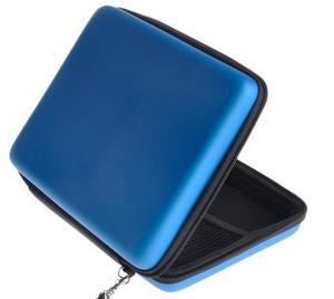 Image 3 - Capa de silicone azul + proteger clara película de toque protetor de tela + azul eva dura viagem carry caso bolsa saco para nintendo 2ds