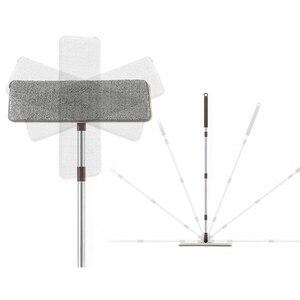 Image 5 - Espremer plana Wringing Mop Limpeza do Chão Esfregão e Balde Mão Livre Almofadas de Microfibra Mop Molhado ou Seco Uso em Madeira laminado Telha