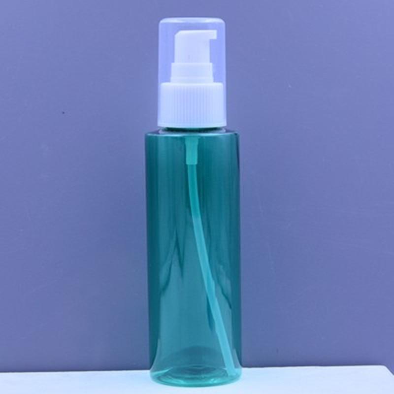 Embudo gratis 1pc + Nueva botella recargable de loción de 120 ml de alta calidad, vacía, 120 ml con bomba para champú, botellas de reutilización de lavado corporal