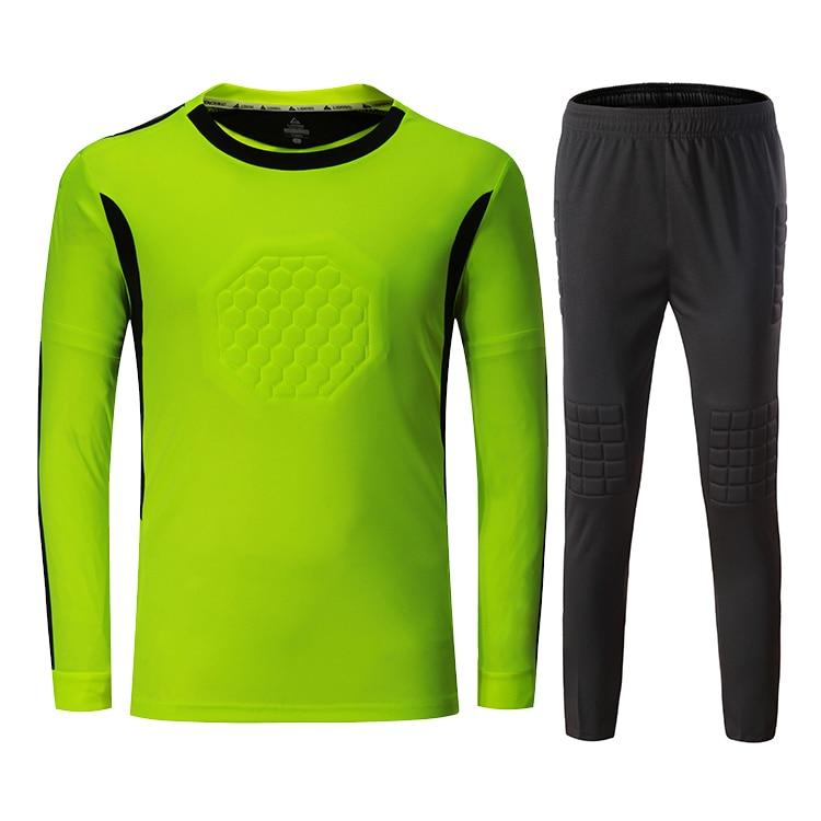 2018 Новый тренировочный футбольный вратаря Джерси костюм Быстросохнущий вратаря с длинным рукавом комплект футбольной формы