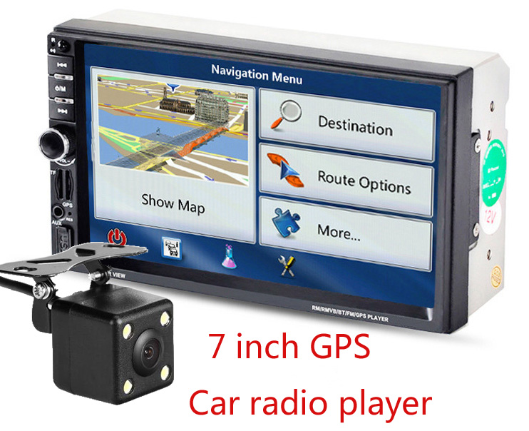 New universal Car Radio Double 2 din Car DVD Player GPS Navigation In dash Car PC Stereo video Free Map Car Electronics