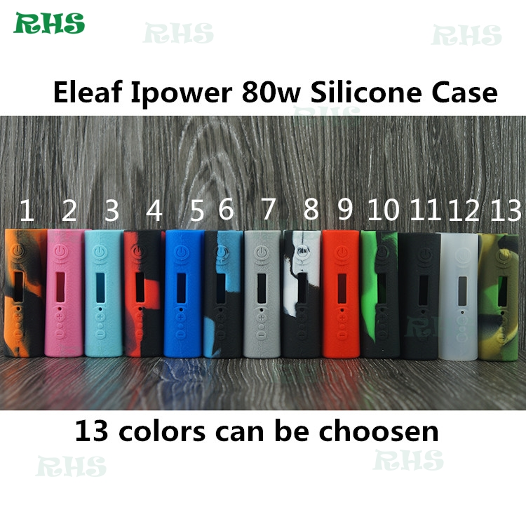 Eleaf iPower Silicone Case Protective Rubber Sleeve Case Skin for Eleaf iPower 80W 5000mah Battery Mod 13 Colors Free Shipping