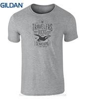 GILDAN Cool Slim Fit Brief Gedrukt Vintage Stijl Reizigers Ducks Badge Icoon T-shirt