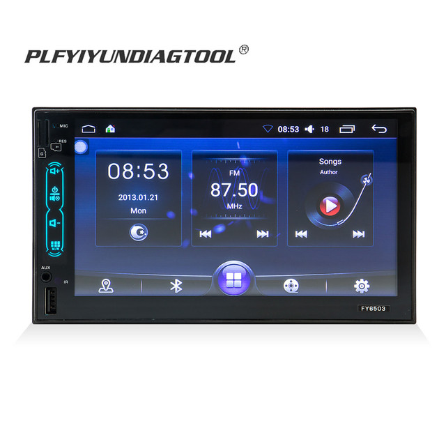 7 inch Car mp5 player Android system DVD stereo GPS Maps Navigation Bluetooth with Rear view Camera FM MP3 MP4 remote control