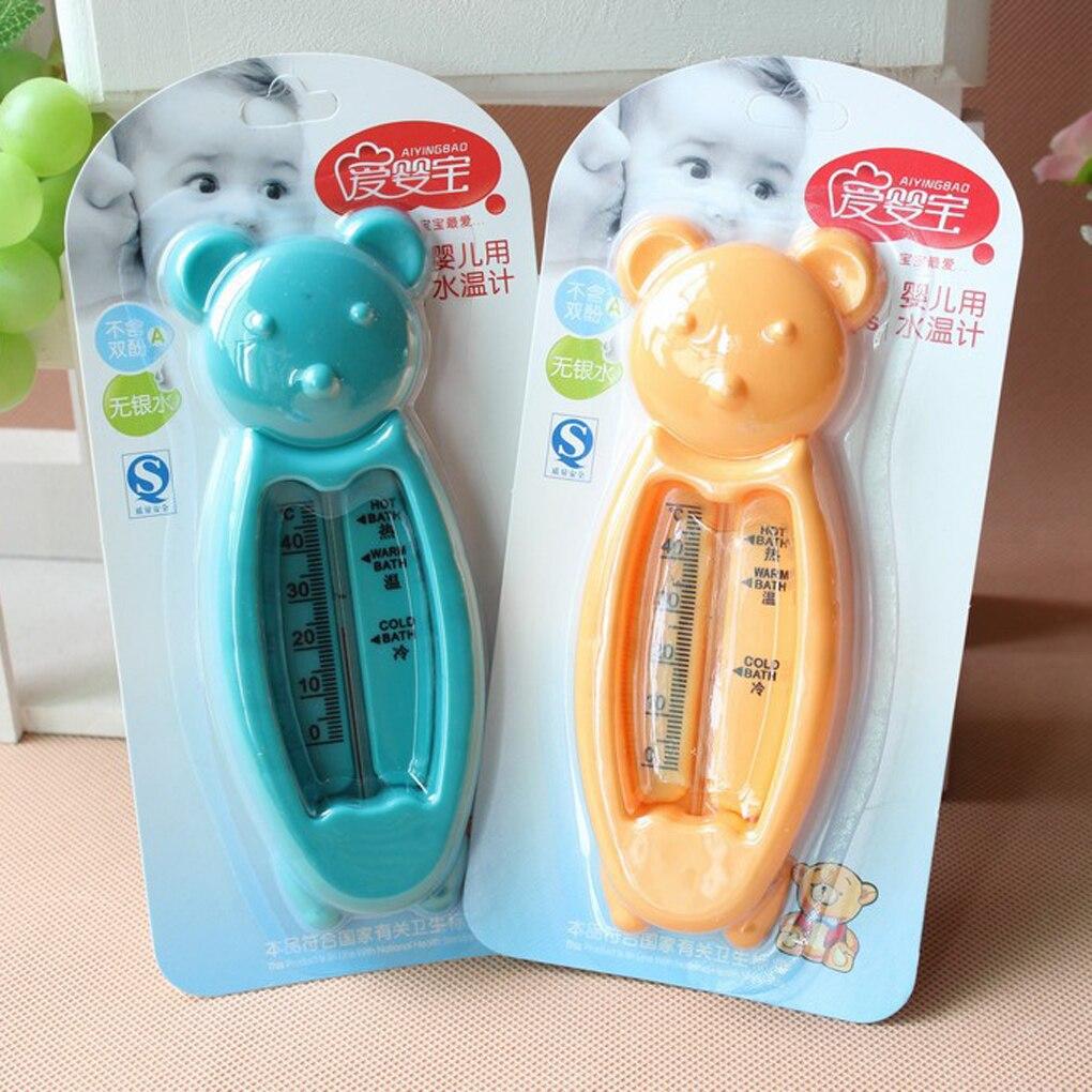 1 pc couleurs aléatoires belle ours bébé bain eau thermomètre baignoire enfants bain température testeur d'eau enfants jouet chambre capteur d'eau