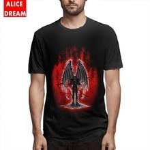 For Male Evil Demon Monster T-shirt Anime T Shirt Organic Cotton Big Size Camiseta