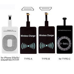 Image 3 - NEW Qi Wireless Charger Receiver Pad Coil For iPhone 5 5S SE 6 6S 6SPlus 7 Plus Wireless Charging Adapter Mat For Andriod Type C