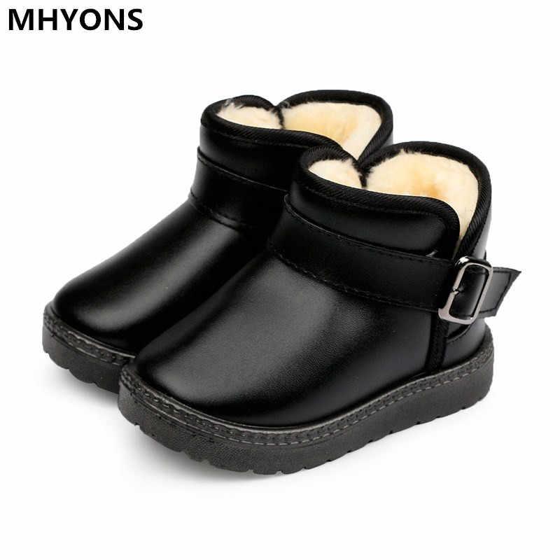 2018 新子供の防水雪のブーツノンスリップ厚い暖かい快適なボーイズガールズコットンかわいい靴子供のための