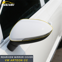 GELINSI Rearview Mirror Light LED Protector Cover Trim Sticker Interior Accessories for VW Arteon CC Car Styling