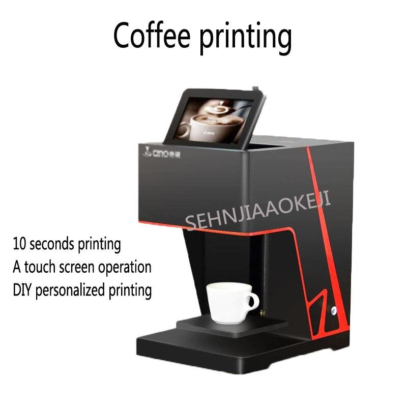 3D café café de chá de leite máquina de impressão máquina de impressão Automática da tela de toque Com conexão WI-FI 220 V 1 PC