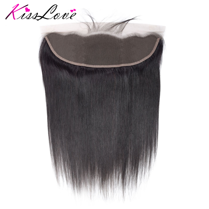 13x4 Ear To Ear Full Lace Frontal Closure Bleached Knots With Baby Hair Remy Brazilian Straight Frontal Remy Human Hair