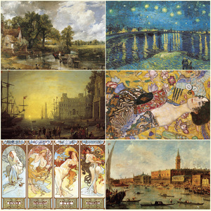 Image 5 - 14Type Adult 2000 Pieces World Oil Painting Puzzles Difficult Famous Starry Night Thicker Paper Puzzle Christmas Gift for Child