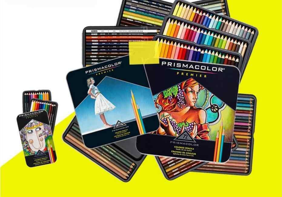24/36/48/60/72/132/150 colores lápiz de color aceite gran núcleo compatible para el juego de lápices de color de pintura de arte prismacolor 1 set