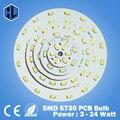 1pce envío libre 3 W 5 W 7 W 9 W 12 W 15 W 18 W 24 W SMD5730 tablero de luz de alto brillo LED panel de La Lámpara para la luz de techo y luz bombillas